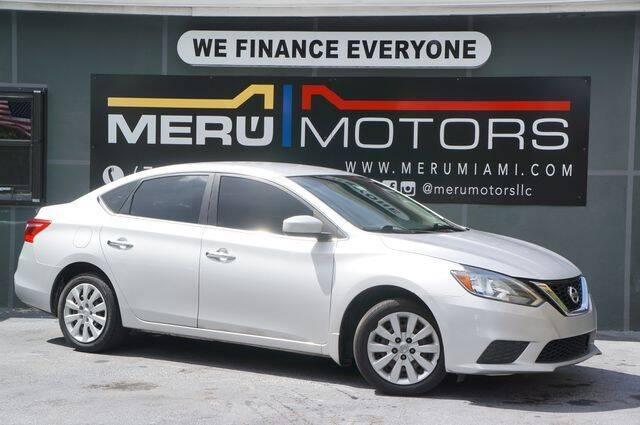 2017 Nissan Sentra for sale at Meru Motors in Hollywood FL
