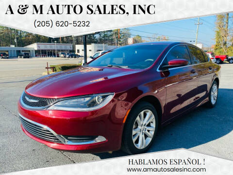 2016 Chrysler 200 for sale at A & M Auto Sales, Inc in Alabaster AL