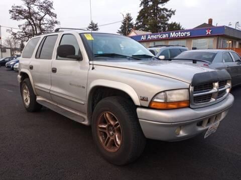 2000 Dodge Durango for sale at All American Motors in Tacoma WA