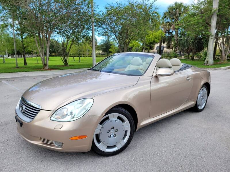 2002 Lexus SC 430 for sale at FIRST FLORIDA MOTOR SPORTS in Pompano Beach FL