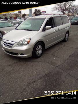 2004 Honda Odyssey for sale at ALBUQUERQUE AUTO OUTLET in Albuquerque NM