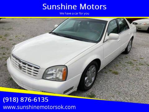 2004 Cadillac DeVille for sale at Sunshine Motors in Bartlesville OK