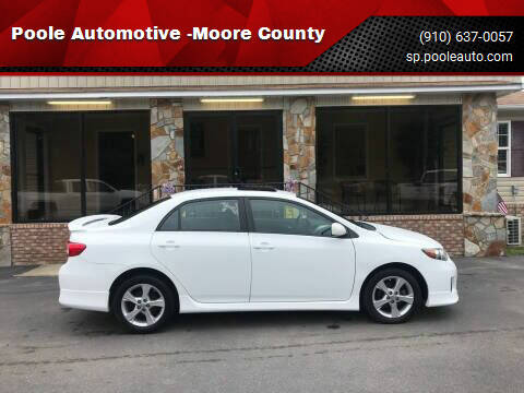 2011 Toyota Corolla for sale at Poole Automotive in Laurinburg NC