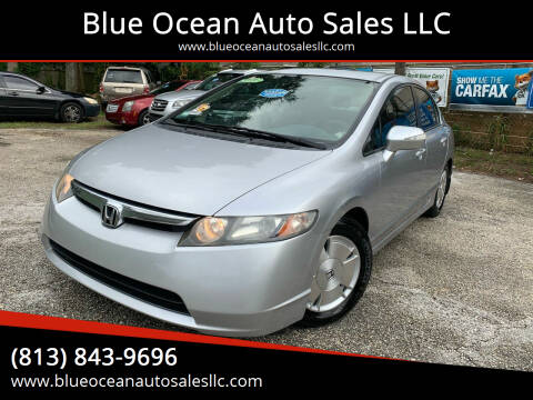 2008 Honda Civic for sale at Blue Ocean Auto Sales LLC in Tampa FL