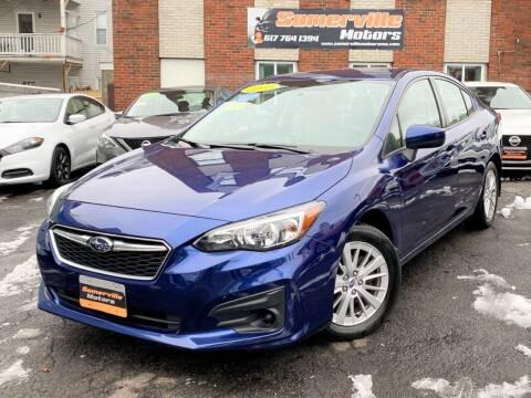 2017 Subaru Impreza for sale at Somerville Motors in Somerville MA