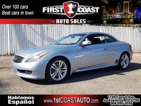 2009 Infiniti G37 Convertible for sale at 1st Coast Auto -Cassat Avenue in Jacksonville FL