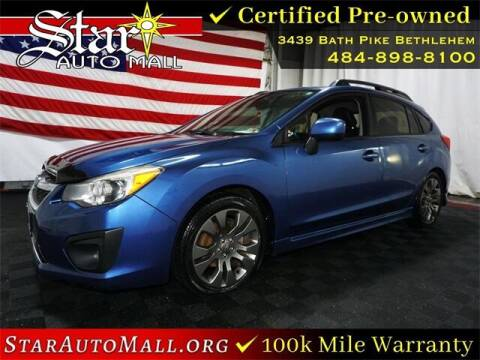 2014 Subaru Impreza for sale at STAR AUTO MALL 512 in Bethlehem PA