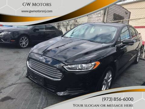 2013 Ford Fusion for sale at GW MOTORS in Newark NJ