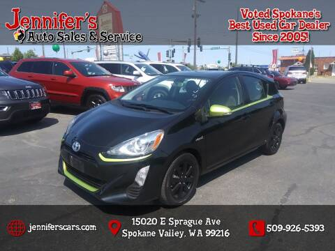 2016 Toyota Prius c for sale at Jennifer's Auto Sales in Spokane Valley WA