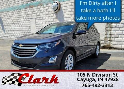 2019 Chevrolet Equinox for sale at Clark Chevrolet in Cayuga IN