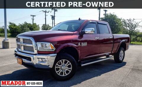 2018 RAM Ram Pickup 2500 for sale at Meador Dodge Chrysler Jeep RAM in Fort Worth TX