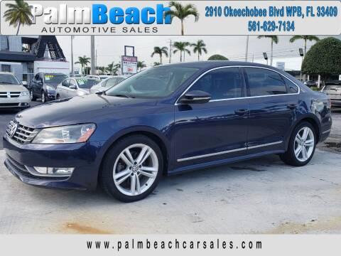 2012 Volkswagen Passat for sale at Palm Beach Automotive Sales in West Palm Beach FL