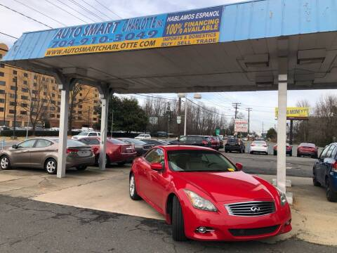 2011 Infiniti G37 Convertible for sale at Auto Smart Charlotte in Charlotte NC