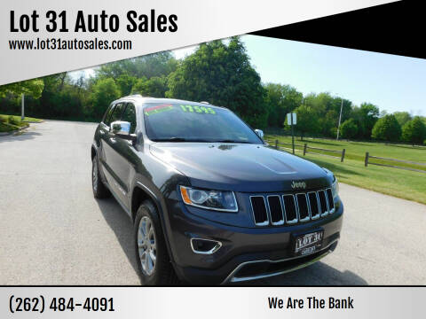 2015 Jeep Grand Cherokee for sale at Lot 31 Auto Sales in Kenosha WI