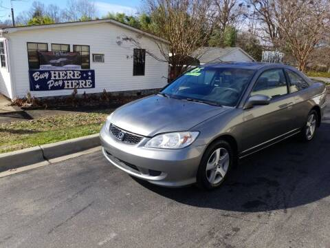 2005 Honda Civic for sale at TR MOTORS in Gastonia NC