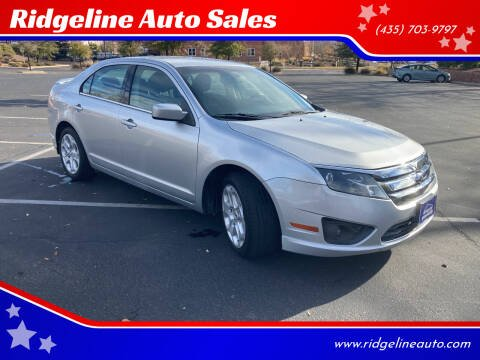 2010 Ford Fusion for sale at Ridgeline Auto Sales in Saint George UT