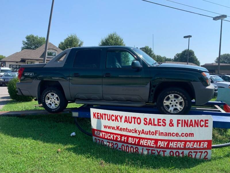 2002 Chevrolet Avalanche for sale at Kentucky Auto Sales & Finance in Bowling Green KY