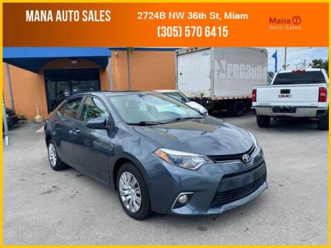 2014 Toyota Corolla for sale at MANA AUTO SALES in Miami FL