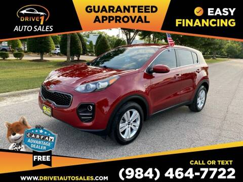 2017 Kia Sportage for sale at Drive 1 Auto Sales in Wake Forest NC