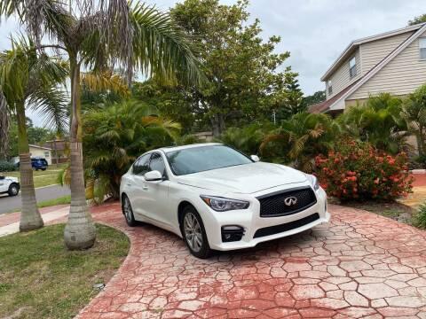 2014 Infiniti Q50 for sale at ONYX AUTOMOTIVE, LLC in Largo FL