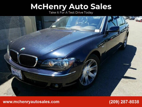 2008 BMW 7 Series for sale at McHenry Auto Sales in Modesto CA