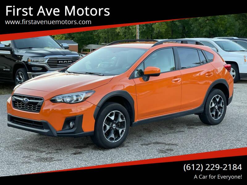 2018 Subaru Crosstrek for sale at First Ave Motors in Shakopee MN