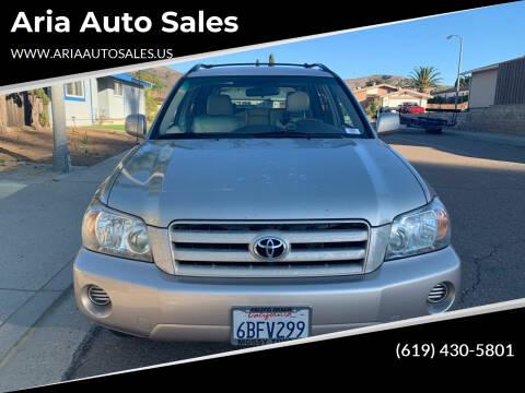 2007 Toyota Highlander for sale at Aria Auto Sales in El Cajon CA