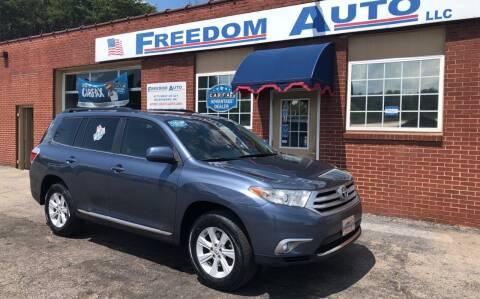 2012 Toyota Highlander for sale at FREEDOM AUTO LLC in Wilkesboro NC