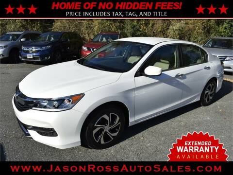2017 Honda Accord for sale at Jason Ross Auto Sales in Burlington NC