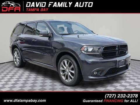 2014 Dodge Durango for sale at David Family Auto in New Port Richey FL