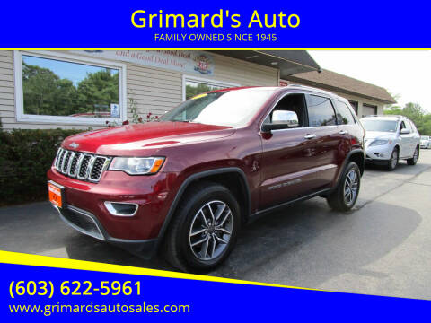 2020 Jeep Grand Cherokee for sale at Grimard's Auto in Hooksett NH