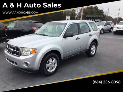 2012 Ford Escape for sale at A & H Auto Sales in Greenville SC