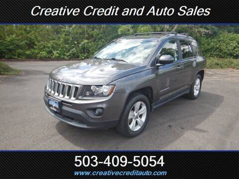 2017 Jeep Compass for sale at Creative Credit & Auto Sales in Salem OR