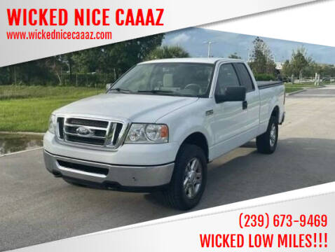 2008 Ford F-150 for sale at WICKED NICE CAAAZ in Cape Coral FL