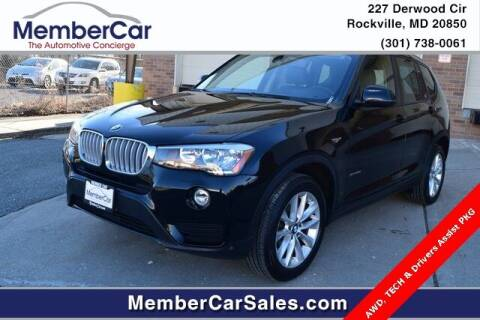 2015 BMW X3 for sale at MemberCar in Rockville MD