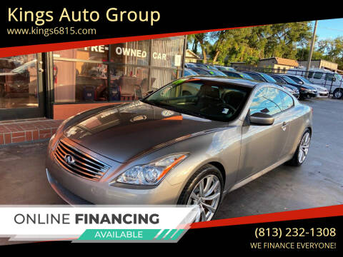 2009 Infiniti G37 Coupe for sale at Kings Auto Group in Tampa FL