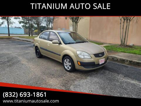 2009 Kia Rio for sale at TITANIUM AUTO SALE in Houston TX