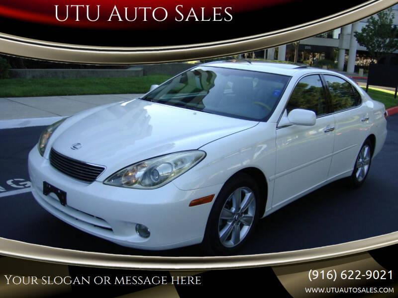 2006 Lexus ES 330 for sale at UTU Auto Sales in Sacramento CA