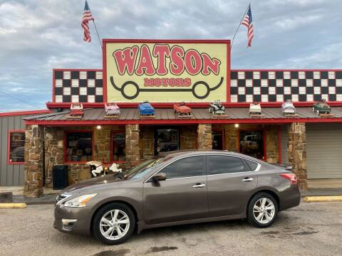 2013 Nissan Altima for sale at Watson Motors in Poteau OK