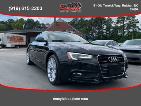 2013 Audi A5 for sale at Complete Auto Center , Inc in Raleigh NC