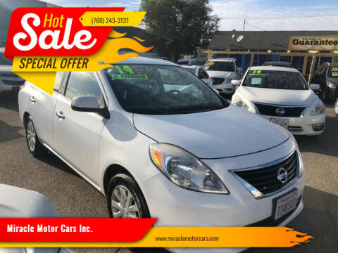 2014 Nissan Versa for sale at Miracle Motor Cars Inc. in Victorville CA