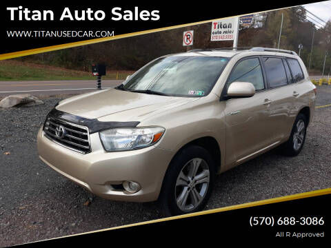 2008 Toyota Highlander for sale at Titan Auto Sales in Berwick PA