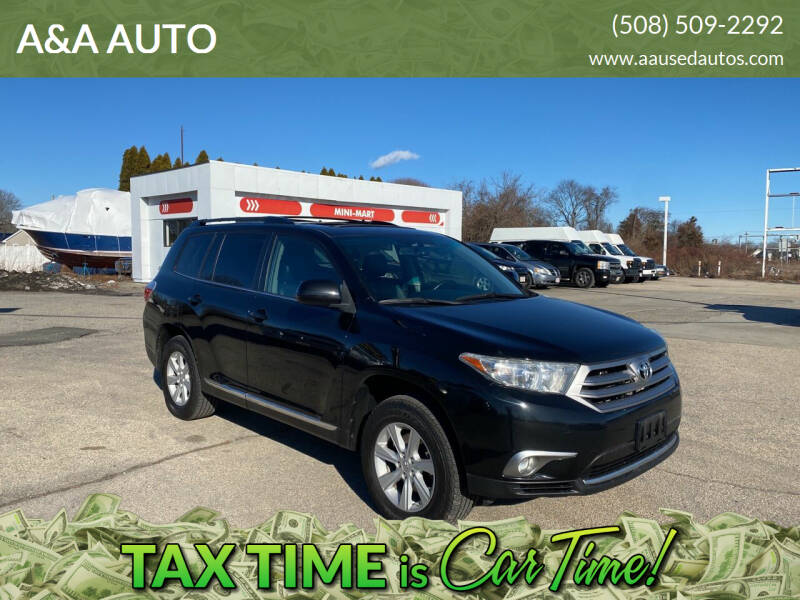 2013 Toyota Highlander for sale at A&A AUTO in Fairhaven MA