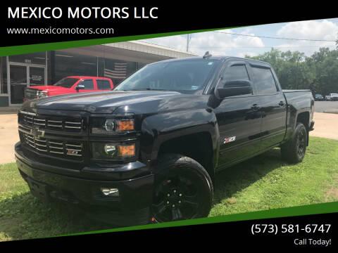 2015 Chevrolet Silverado 1500 for sale at MEXICO MOTORS LLC in Mexico MO