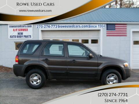 2007 Ford Escape for sale at Rowe Used Cars in Beaver Dam KY