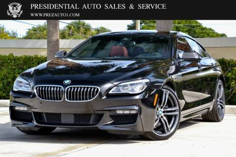 2018 BMW 6 Series for sale at Presidential Auto  Sales & Service in Delray Beach FL