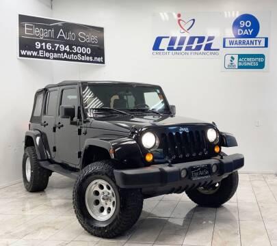 2007 Jeep Wrangler Unlimited for sale at Elegant Auto Sales in Rancho Cordova CA