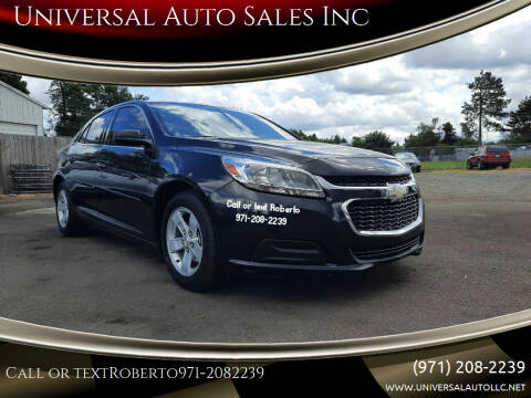 2015 Chevrolet Malibu for sale at Universal Auto Sales Inc in Salem OR