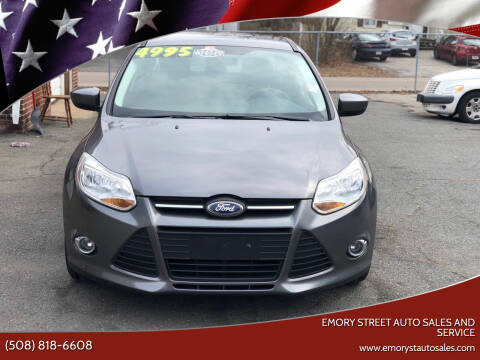2012 Ford Focus for sale at Emory Street Auto Sales and Service in Attleboro MA