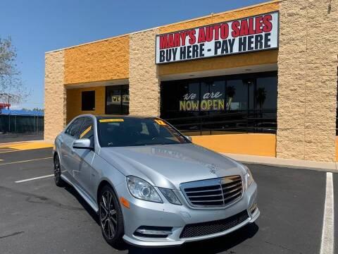 2012 Mercedes-Benz E-Class for sale at Marys Auto Sales in Phoenix AZ
